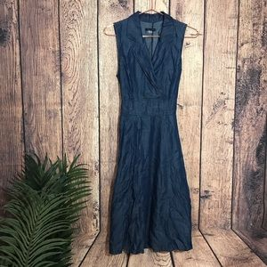 Tommy Hilfiger Dress 10 Denim Sleeveless Blue